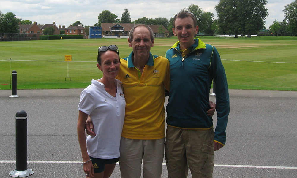 Professor Dick Telford, Michael Shelley and Lisa Weightman
