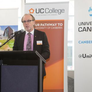Vice-Chancellor Professor Stephen Parker at the launch