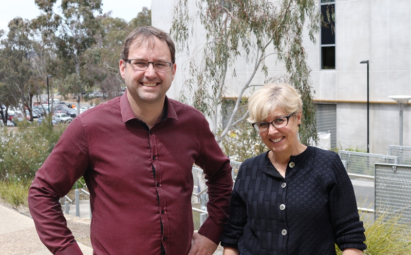 Professor Ross Thompson stands with his IAE colleague Dr Jane Doolan