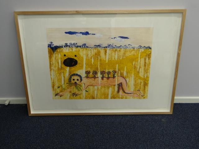 Collograph print Nebuchadnezzar by Arthur Boyd