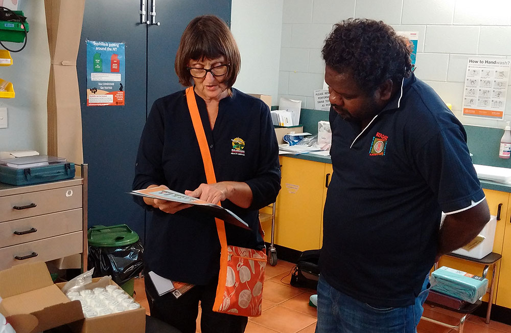 Image of a Clinical Trial Research Nurse with an Aboriginal Health Practitioner