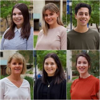 Image of six student journalists taking part in the Australian Middle East Journalism Exchange