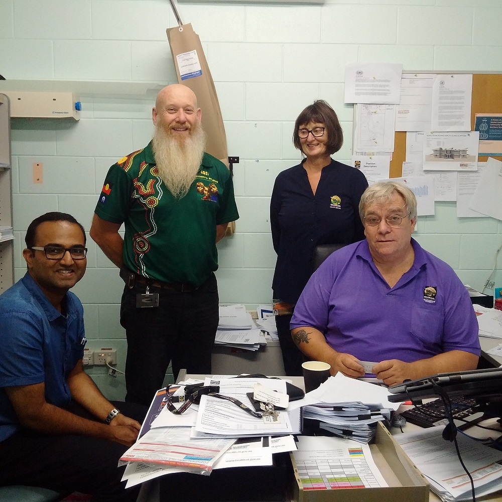 Dr Thomas (far left) with the clinical team at the Wurli-Wurlinjang Aboriginal Community Health Service. Photo: supplied