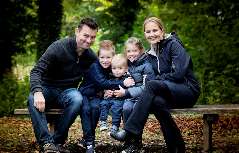 Photo of Dom Maher and his family