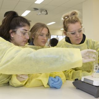 Gungahlin College students making soap