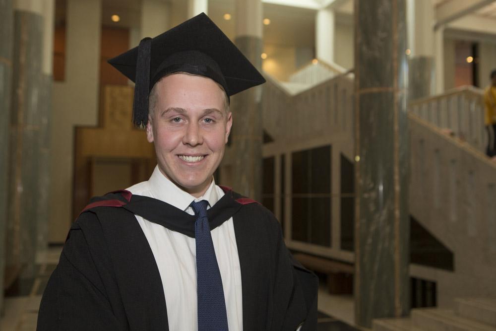 Sam Rowland at his graduation