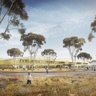 A render design of an external view of the UC Public Hospital