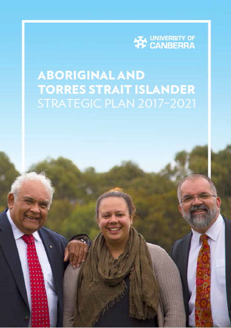 Image of the front cover of the Aboriginal and Torres Strait Islander Strategic Plan book 2017 - 2021