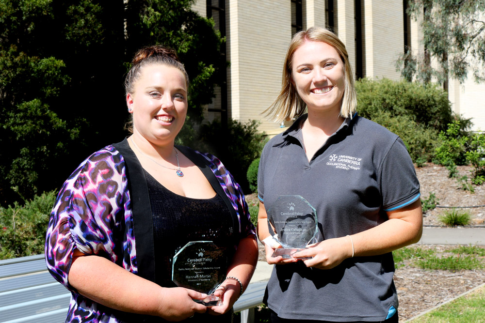 Gabby Robberds Scholarship winners Hannah Martin and Jessica Callagahan