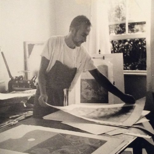 David Rose in his studio in the 1960s