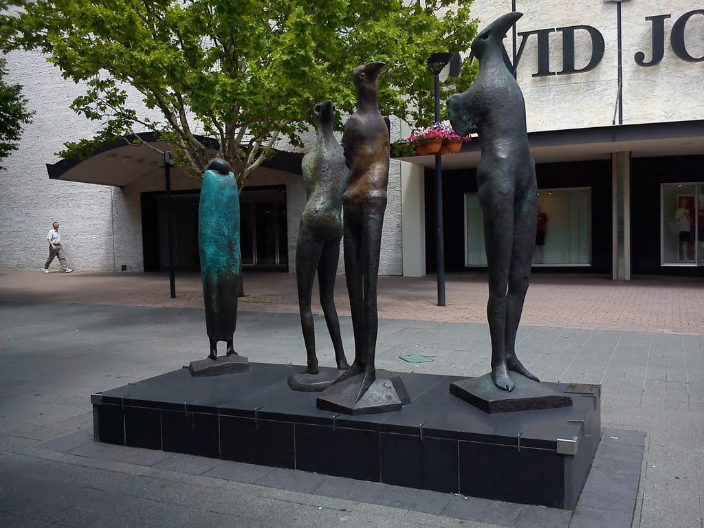 Icarus Group outside David Jones, Civic, Canberra