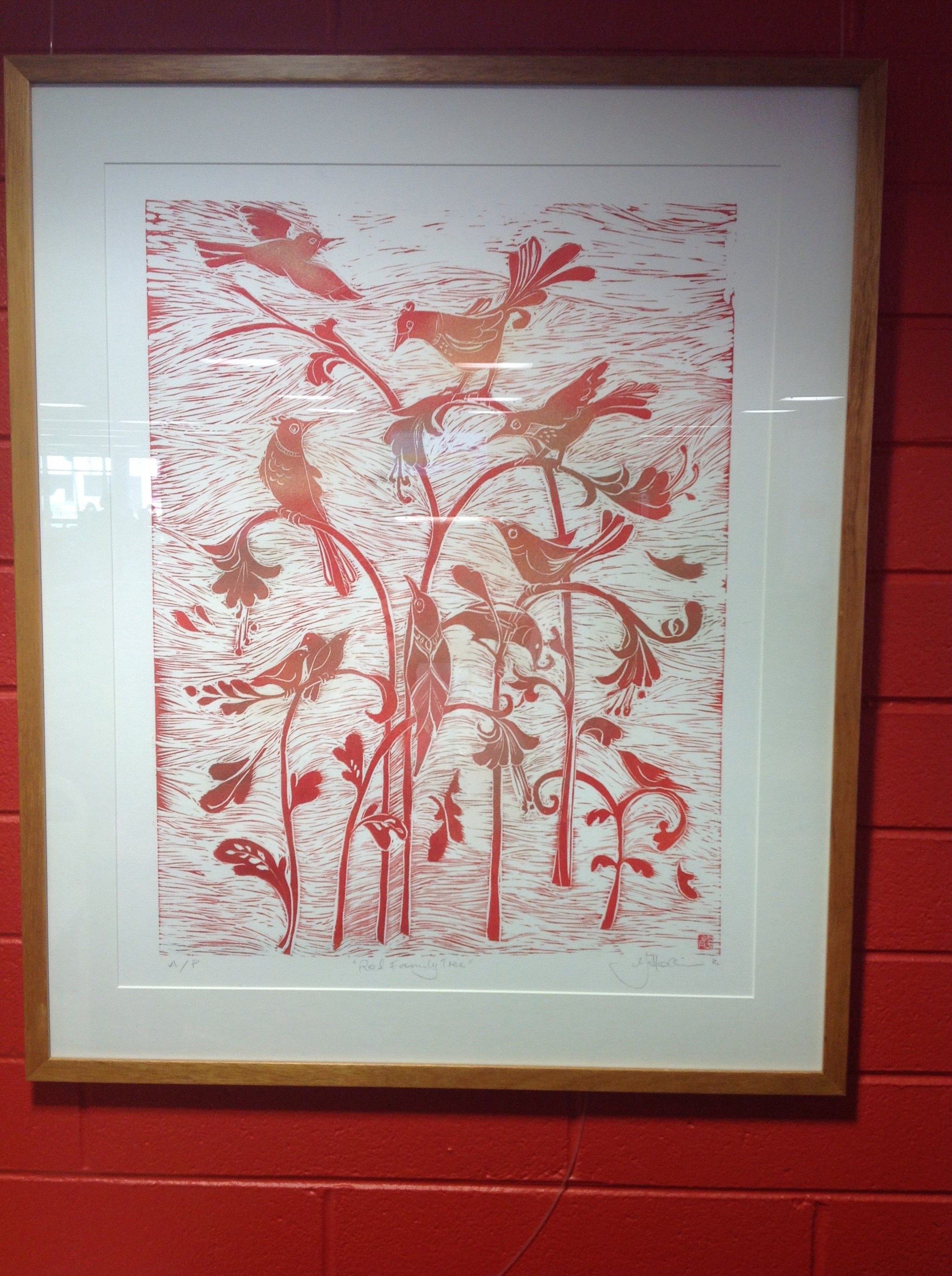 Red Family Tree by Jo Hollier