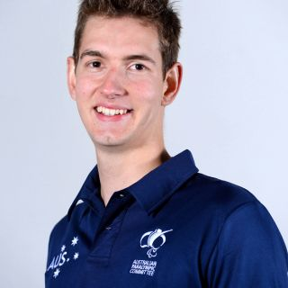 Sports management student and swimmer Matthew Haanappel