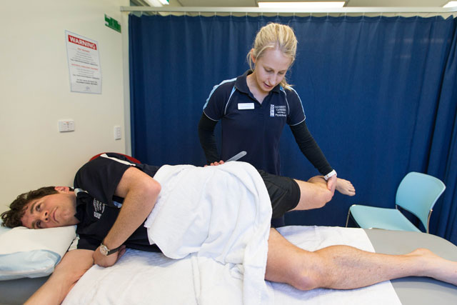 Physio student on placement