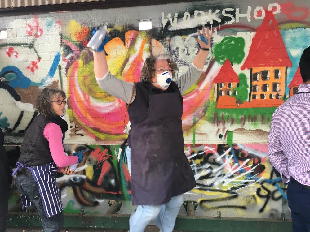 Spray Painting Fun