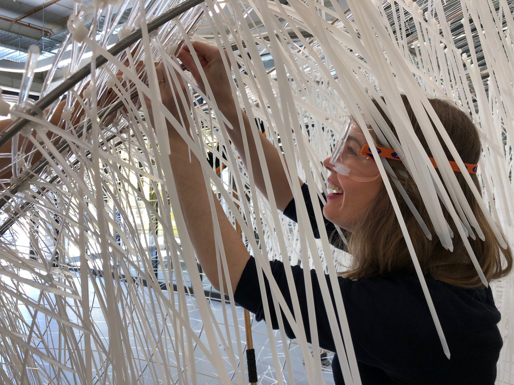 Professor Kuma's concept of 'reckless weaving' was used to create Namako's sense of fluid movement. Photo: supplied