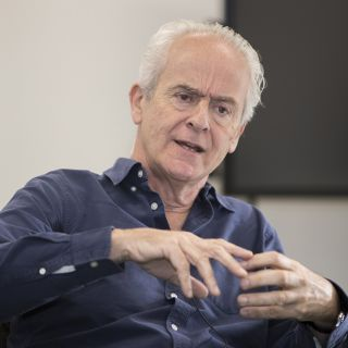 Nick Davies delivering a masterclass at UC to journalism students