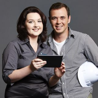 SignOnSite co-founders Alexandria Garlan and Mitchell Harmer